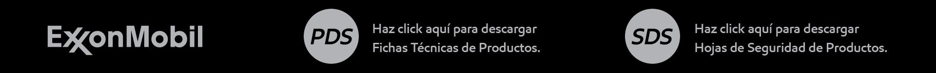 Fichas técnicas de los productos